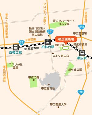 帯広競馬場:地図