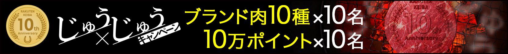 楽天競馬10周年記念 第2弾じゅうじゅうキャンペーン